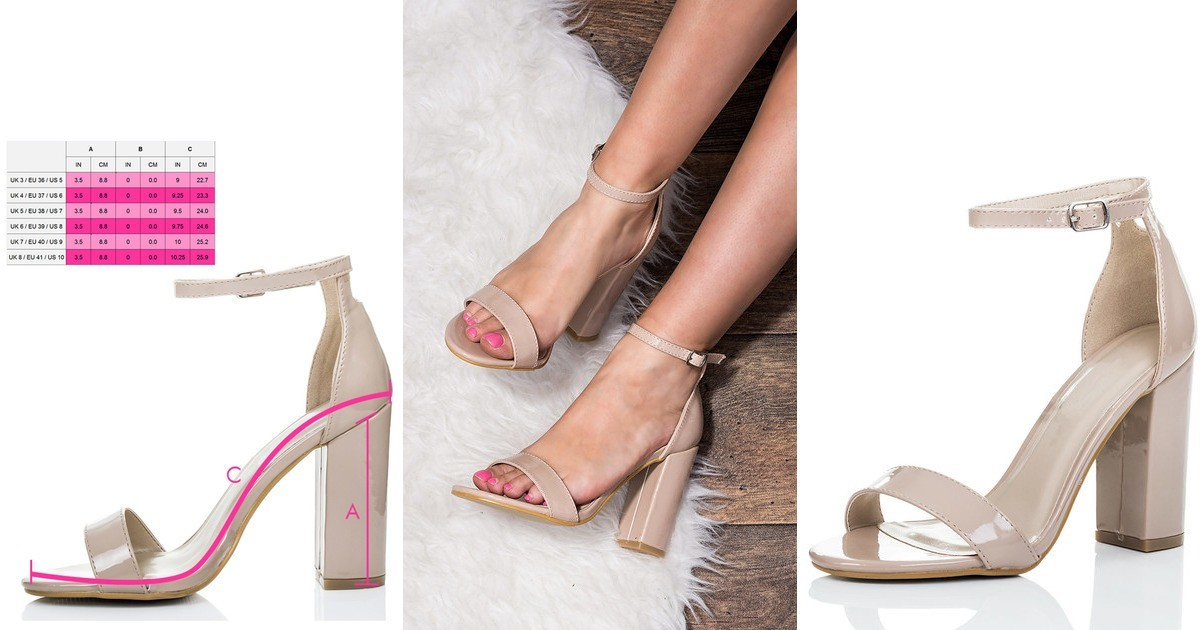 7d760b59870 Sass Barely There Block Heel Sandals Shoes Nude Patent | SpyLoveBuy |  SilkFred