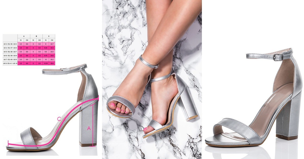 9e2a7d3b336 Sass Block Heel Barely There Sandals Shoes Silver Leath... | SpyLoveBuy |  SilkFred