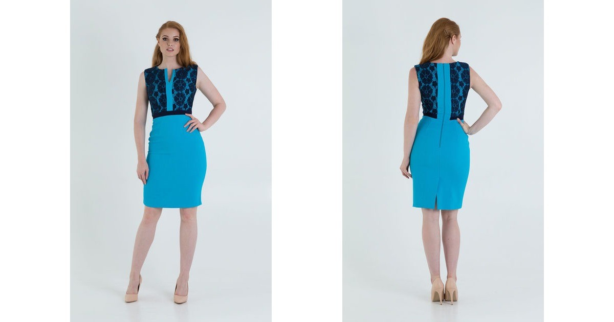 897c6fa07d9 Midi Pencil Dress With Lace Top For Wedding. By JEVA FASHION