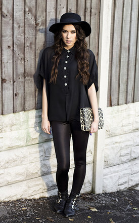 Black blouse shirt  by Fazane Malik Product photo