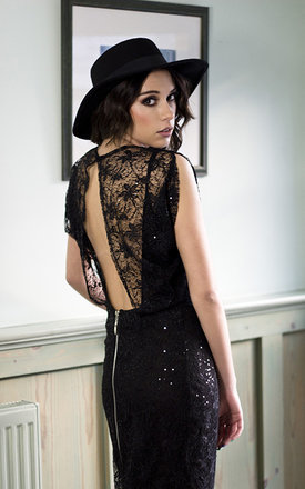 Black lace dress by Fazane Malik Product photo
