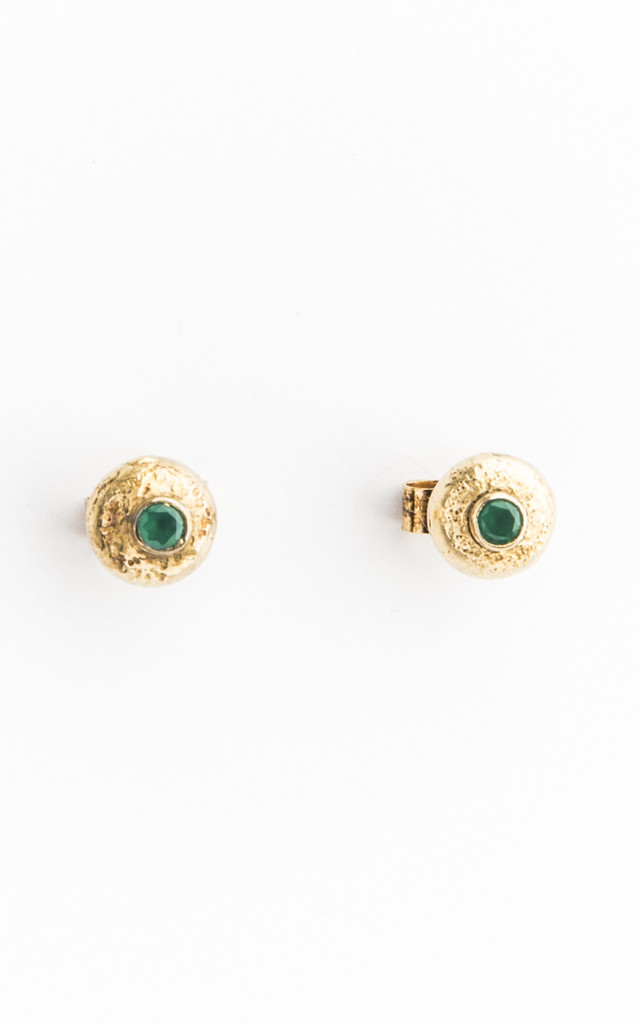 Small Gold Stud Earrings by Becky Dockree Jewellery