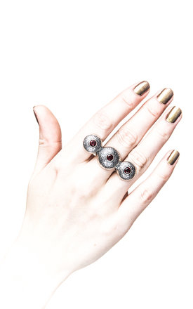 Triple Dome Ring by Becky Dockree Jewellery