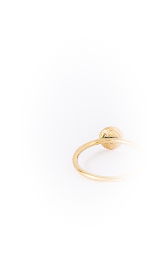 Small Gold Dome Ring by Becky Dockree Jewellery