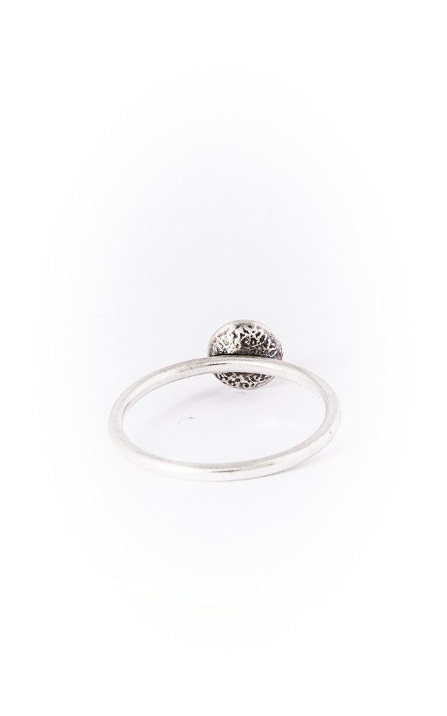 Small Silver Dome Ring by Becky Dockree Jewellery