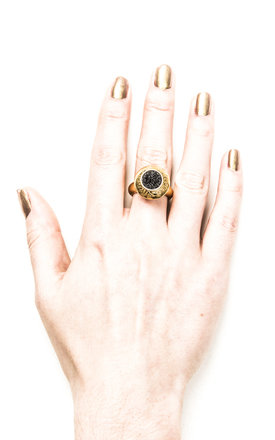 Large Gold Dome Ring by Becky Dockree Jewellery