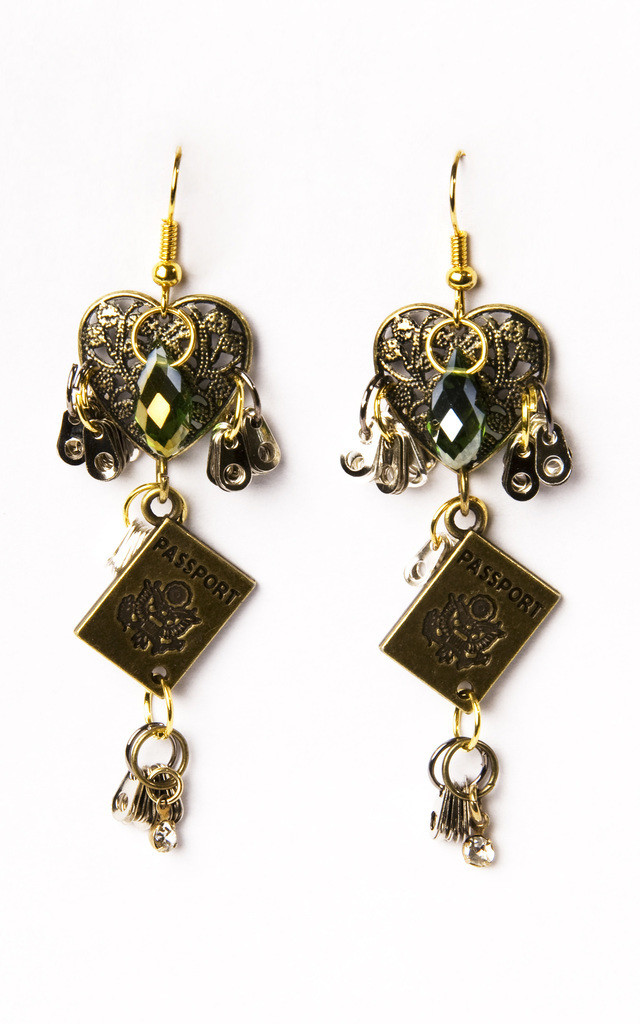 Passport to Earth Earrings by Anna Kompaniets