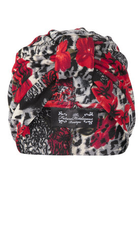 Animal and rose print jersey turban  by The Future Heirlooms Boutique Product photo