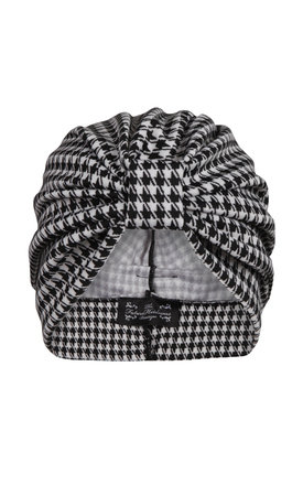 Monochrome dogtooth jersey turban  by The Future Heirlooms Boutique Product photo