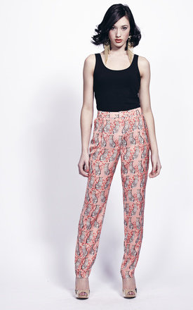 Coral tiger print trousers by Liquorish Product photo