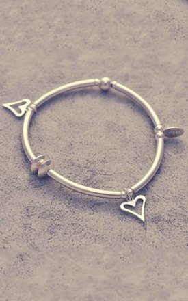 Sterling silver heart noodle bracelet by Alyssa Jewellery Design Product photo