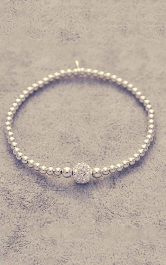 Sterling silver glitter ball bracelet by Alyssa Jewellery Design