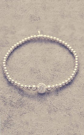 Sterling silver glitter ball bracelet by Alyssa Jewellery Design Product photo