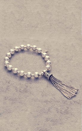 Sterling silver tassel ball bracelet by Alyssa Jewellery Design Product photo