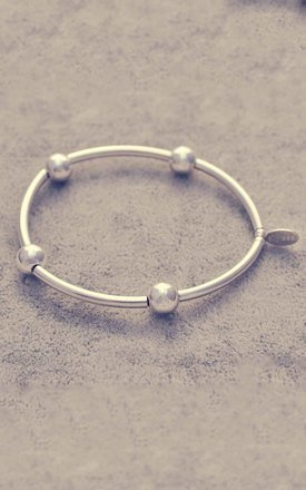 Sterling silver noodle ball bracelet by Alyssa Jewellery Design Product photo