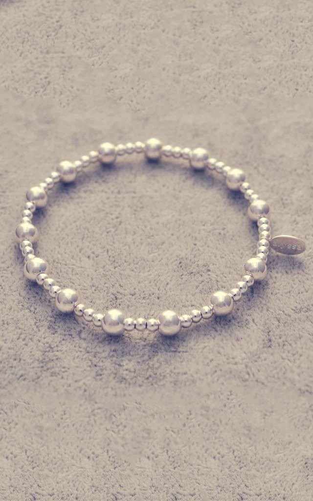 Sterling silver mixed ball bracelet by Alyssa Jewellery Design
