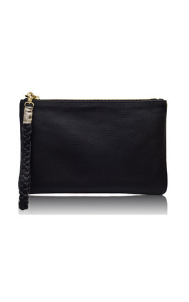 Sunset two- tone black & gold metallic clutch by Driftwood Bags Product photo