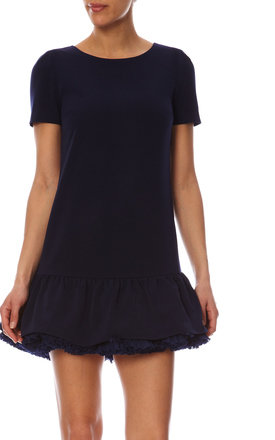 Petticoat low-waisted dress navy blue by LPC Paris - Les Petites Chaudières Product photo