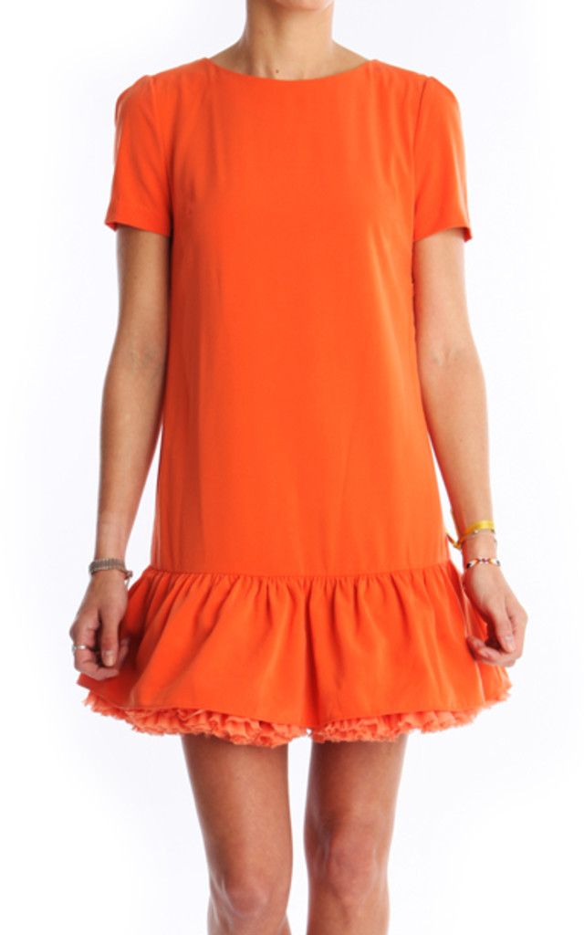 Petticoat Low-Waisted Dress Orange by LPC Paris - Les Petites Chaudières