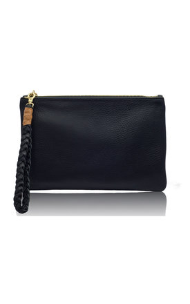 Sunset two- tone tan & black clutch ltd edition by Driftwood Bags Product photo