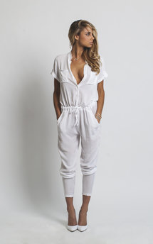 H jumpsuit white by Never Fully Dressed Product photo