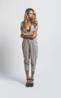 H jumpsuit taupe by Never Fully Dressed Product photo