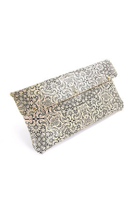 Leather clutch bag - white lace by Tovi Sorga Product photo