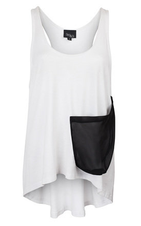 Reo&eli mich jersey vest with silk pocket detail by Reo&Eli Product photo