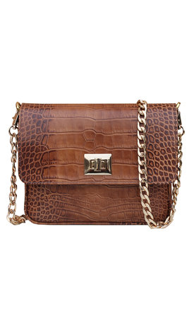 Brown retro handbag by THE CODE HANDBAGS Product photo