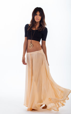 Gypsy skirt in sheer peach by Dancing Leopard Product photo