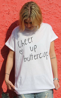 Cheer up buttercup t-shirt by Adolescent Clothing Product photo