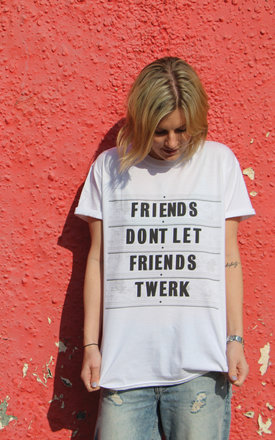 Friends don't twerk t-shirt by Adolescent Clothing Product photo