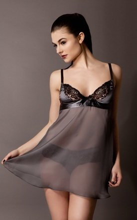 Silk babydoll - steel by Emma Harris Product photo