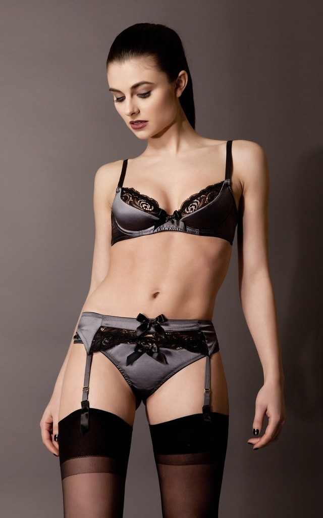 Silk Satin Suspender by Emma Harris