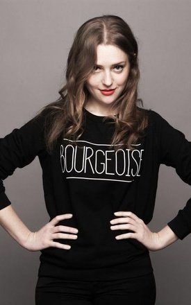 "Sweat-shirt black "" bourgeoise"" by Parisian Rich Product photo"