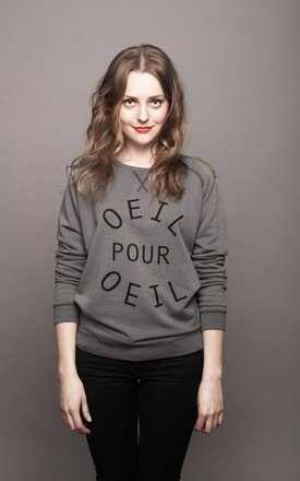 "Sweat-shirt mixte vintage "" oeil pour oeil "" by Parisian Rich Product photo"