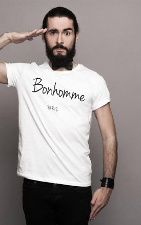 "Sweat-shirt white "" bonhomme "" by Parisian Rich Product photo"