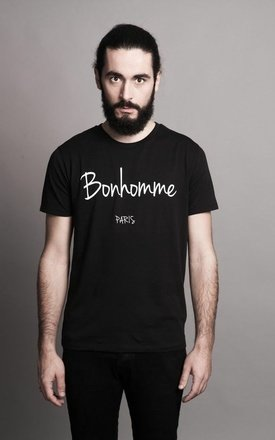 "T-shirt black  "" bonhomme by Parisian Rich Product photo"