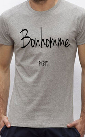 "T-shirt heather grey "" bonhomme "" by Parisian Rich Product photo"