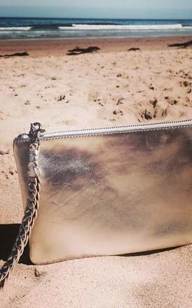 Sunset two- tone metallic clutch by Driftwood Bags Product photo