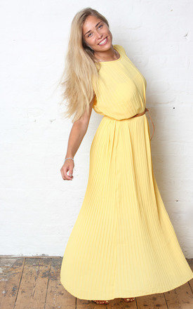 Yellow pleat midi::Maxi by Never Fully Dressed Product photo