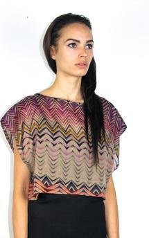 Aztec print box cut crop top by VACCINE Product photo