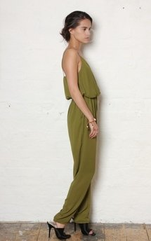 Olive g jumpsuit by Never Fully Dressed Product photo