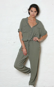 Khaki h jumpsuit by Never Fully Dressed Product photo