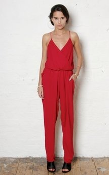 Red g jumpsuit by Never Fully Dressed Product photo