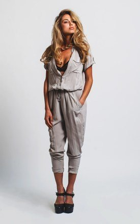Taupe h jumpsuit by Never Fully Dressed Product photo