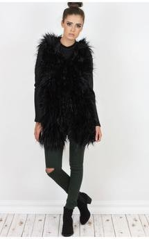Felicity luxe faux fur gilet by Dolly Rocka Product photo