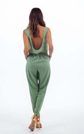 Tiger romper in army green by Dancing Leopard Product photo