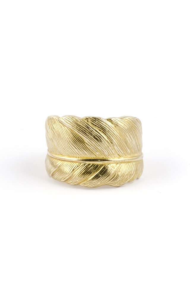 Gold Feather Ring 18ct: Take Flight by Frillybylily