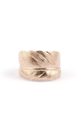 9 Ct Rose Gold Feather Ring by Frillybylily